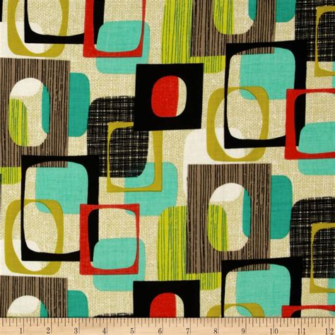 Retro Fabric by Michael Miller Jug Or Not Retro Framed Vanilla Discount