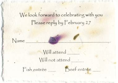 how do you sign a wedding response card rsvp cards with meal options