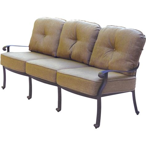 deep seating outdoor sofa patio furniture deep seating sofa cast aluminum lisse