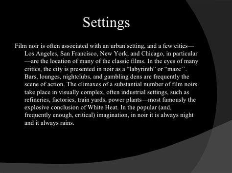 common themes in film noir film noir presentation