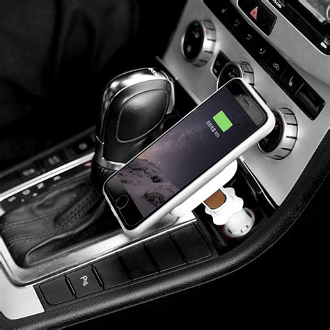 car wireless qi wireless car cigarette lighter charger magnetic adapter