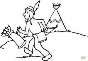 dibujos para colorear de palabras indigenas dibujo de ind 237 gena nativo americano para colorear