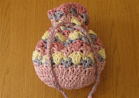 crochet pattern small drawstring bag very easy crochet drawstring bag tutorial crochet purse