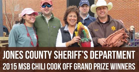 Jones County Sheriff S Office by Jones County Sheriff S Dept Wins 2015 Msb Chili Cook