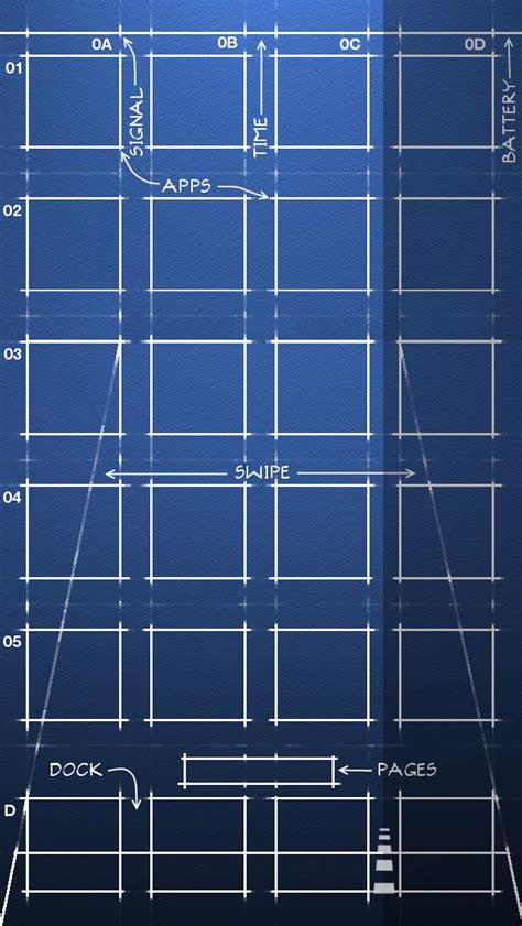 iphone 5 ios 6 blueprint wallpaper 640x1136 by