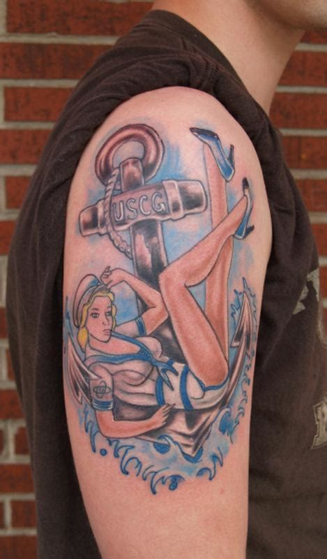coast guard tattoo u s coast guard pinup by garancheski iii