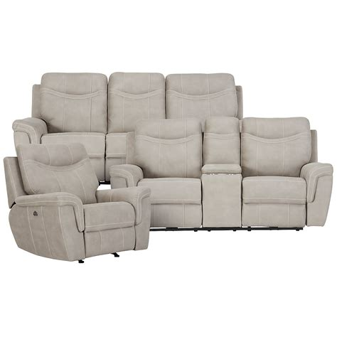 skye microfiber power reclining sofa city furniture boardwalk pewter microfiber power
