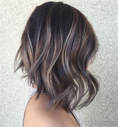 images of silver highlights on very dark short hair 90 balayage hair color ideas with blonde brown and