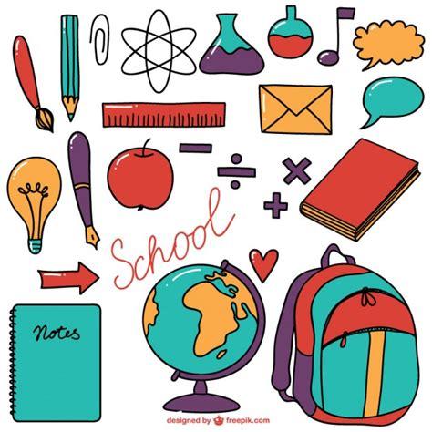 Imagenes De Objetos De Utiles Escolares | dibujos de 250 tiles escolares descargar vectores gratis