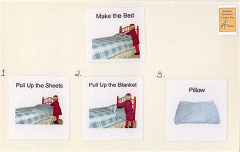 the proper way to make a bed visual supports
