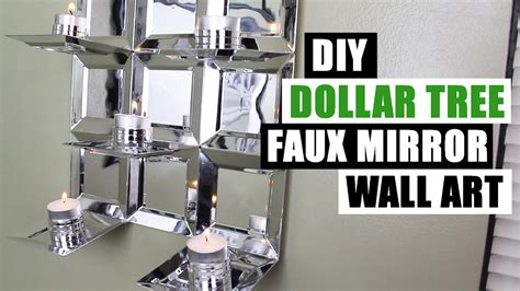 Faux Candle Chandelier Diy Dollar Tree Glam Faux Mirror Wall Art Candle Holder