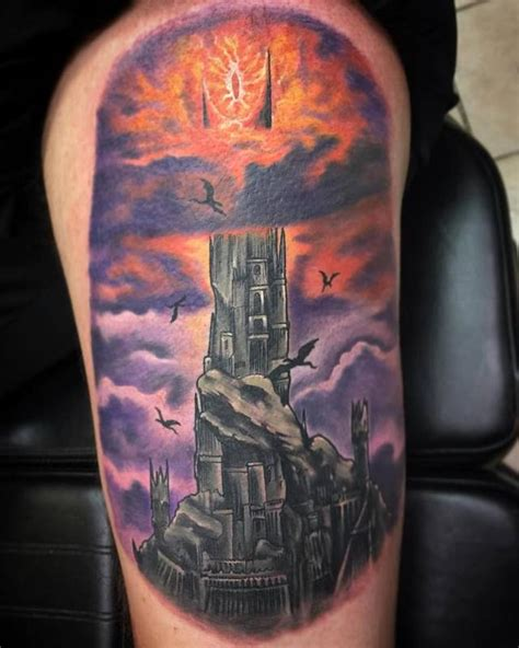 the dark tower barad dur by chad pelland tattoos