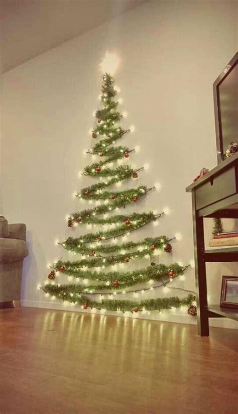 space saver wall christmas tree home decor