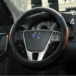 Steering Wheel Cover Volvo Xc90 Layer Cowhide Genuine Leather Steering Wheel Covers