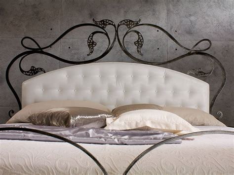 Iron And Footboards by Infabbrica Ethos Wrought Iron Bed With Tufted Headboard