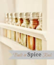 easy diy built in spice rack organize me already