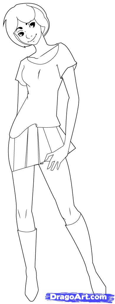 how to draw person how to draw a person step by step figures free