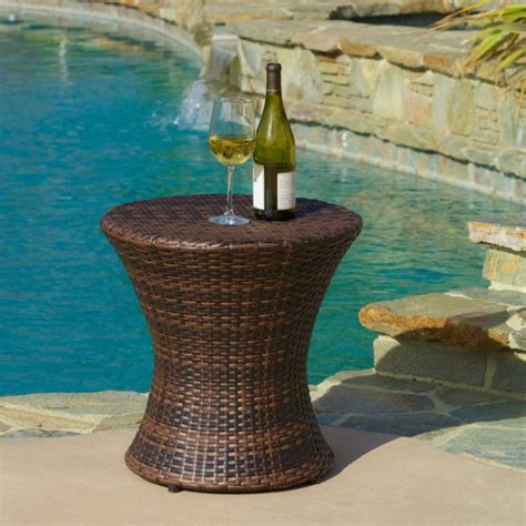 wicker accent table outdoor brown wicker hourglass accent table fresh garden
