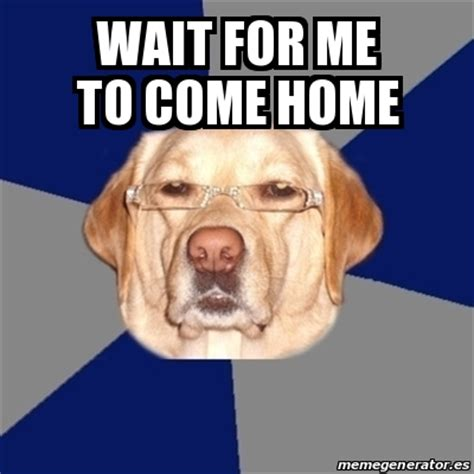 meme perro racista wait for me to come home 23250246