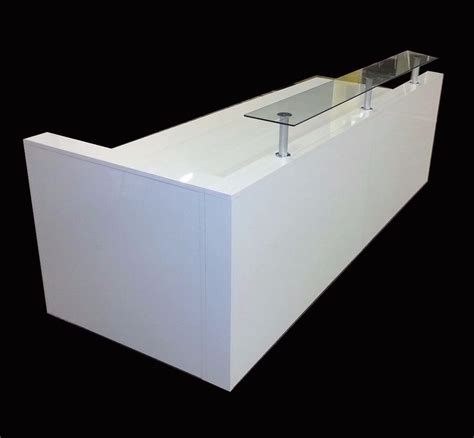 Reception Desk White High Gloss Ref 0502 In Irlam High Reception Desk