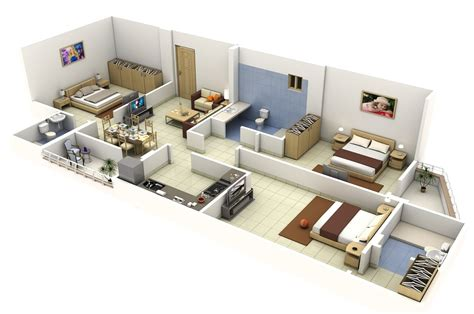 3 Bedroom Apartment House Plans 3 Bedroom Apartments