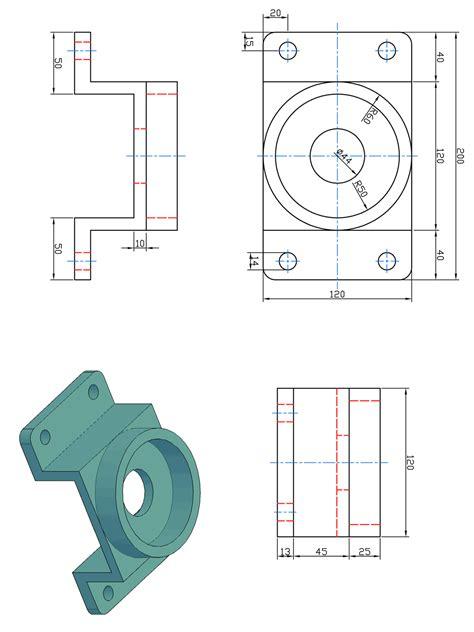 tavole disegno meccanico sostegno meccanico prismacad
