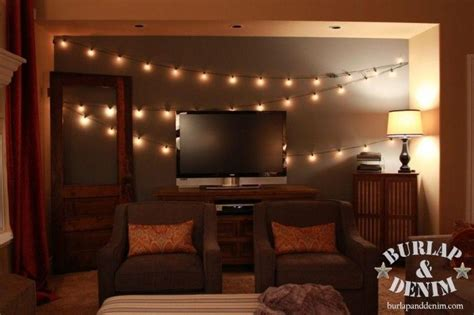vintage string lights for indoors home basement