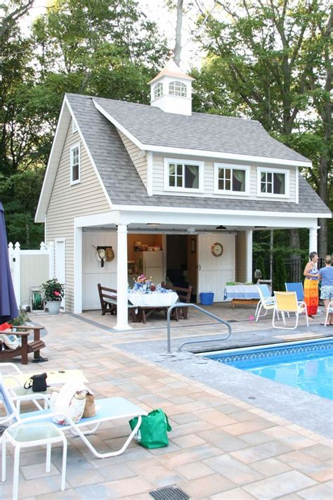 Pool House Plans With Garage by Pool House Swimming Pools Pool Houses