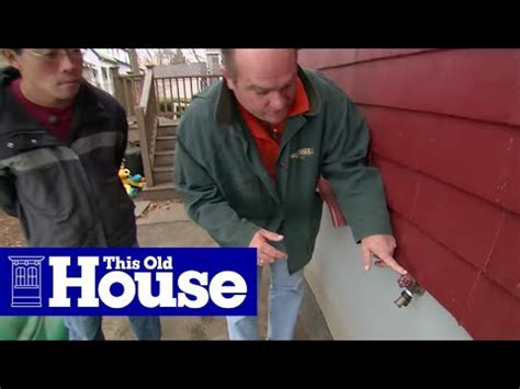 replace  outdoor faucet   frost proof sillcock   house youtube