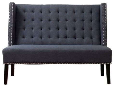 Leather Banquette Bench by Naolin Gray Leather Banquette Bench Upholstered Benches