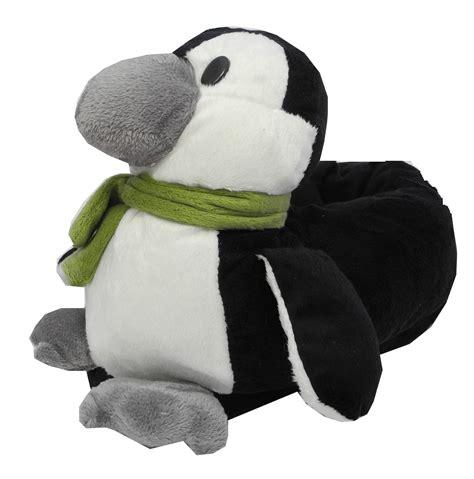 penguin slippers for adults boys novelty fur penguin animal slippers