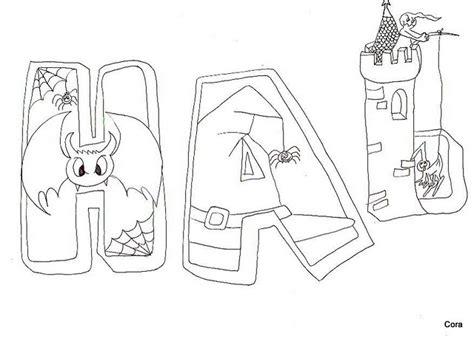 imagenes de halloween letras letras halloween dibujalia dibujos para colorear