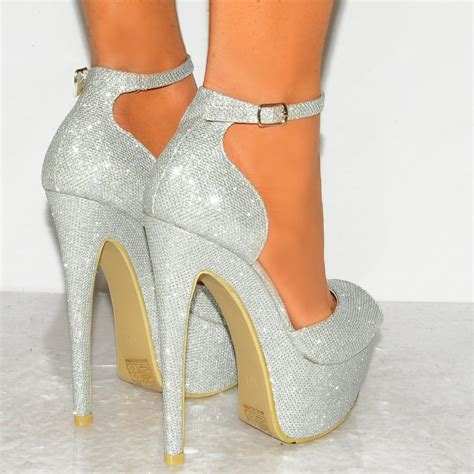 silver high heels with ankle silver shimmer peep toe ankle stiletto