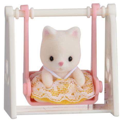 Sylvanian 3350 Baby Carry Cat At Desk carry sylvanian families