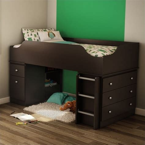 treehouse bedroom furniture south shore treehouse twin loft bed in chocolate 3069a3