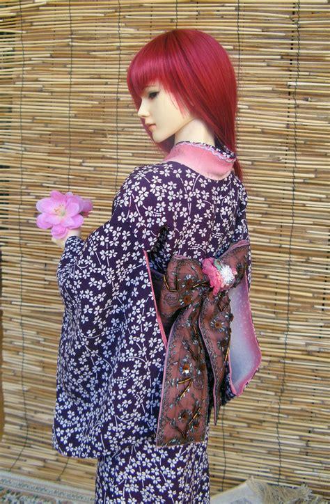 kimono pattern bjd bjd kimono purple with white flowers by inarisanscrafts on