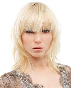 shaggy hair styles with bangs with medium hair 40 shoulder length shag with short layers and blunt bangs