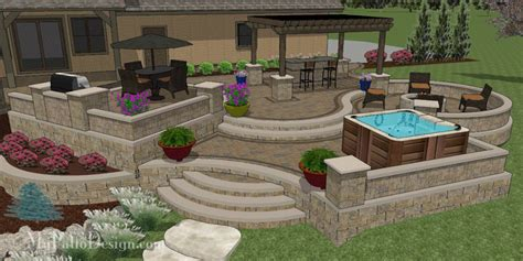 Terraced Patio Designs Custom 3d Patio Design Designing Patios You To Use Mypatiodesign