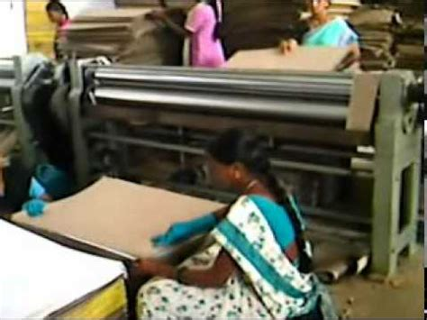 Paper Corrugated Box Machinery - paper corrugated board pasting machine dat