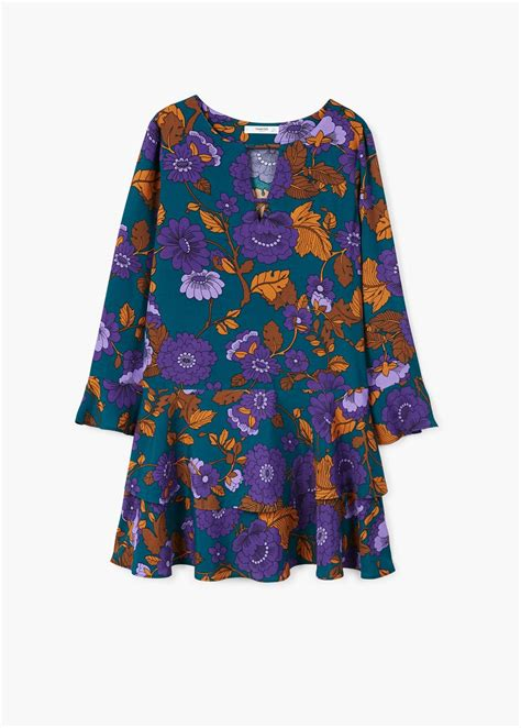 Ruffles Slit Dress Mango mango archives dresscodes