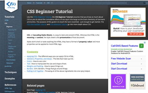 html tutorial with css 25 best collection of css tutorial websites 187 css author