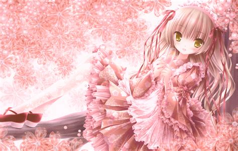 wallpaper anime pink pretty in pink wallpaper and background image 1500x953