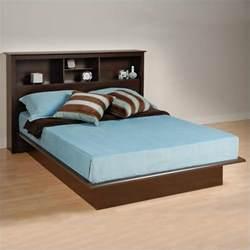 Platform Bed Diy Kit Bookcase Platform Bed In Espresso Finish Ebq 6080