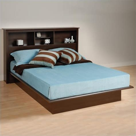 platform bed kit queen bookcase platform bed in espresso finish ebq 6080
