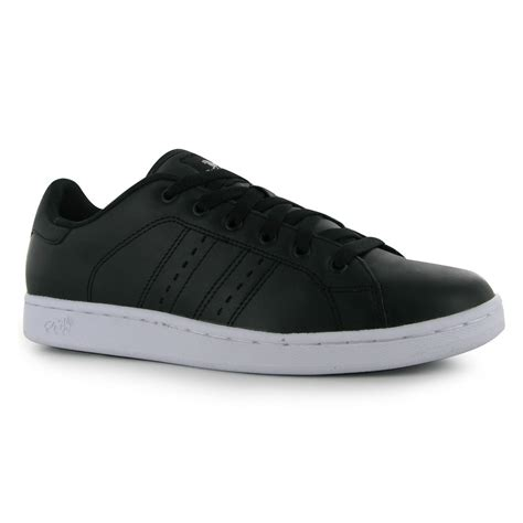 sport casual shoes lonsdale mens leyton leather trainers lace up sport