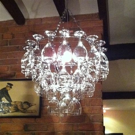 Wine Glass Chandelier Uk Vino Wine Glass Chandelier Supplies Countyfetes