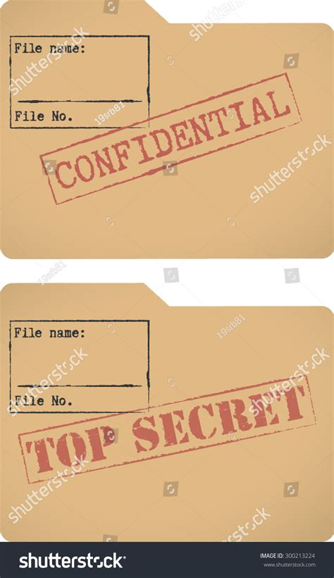file template confidential top secret document file templates stock