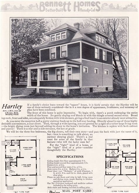 1931 kit home aladdin bungalow the carlton ameerican foursquare the hartley 1922 bennett homes