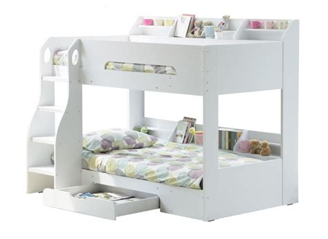 white wooden bunk beds flair flick wooden bunk bed white