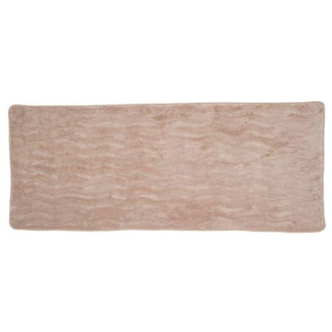 long bathroom rug taupe 24 25 in x 60 in memory foam extra long bath mat